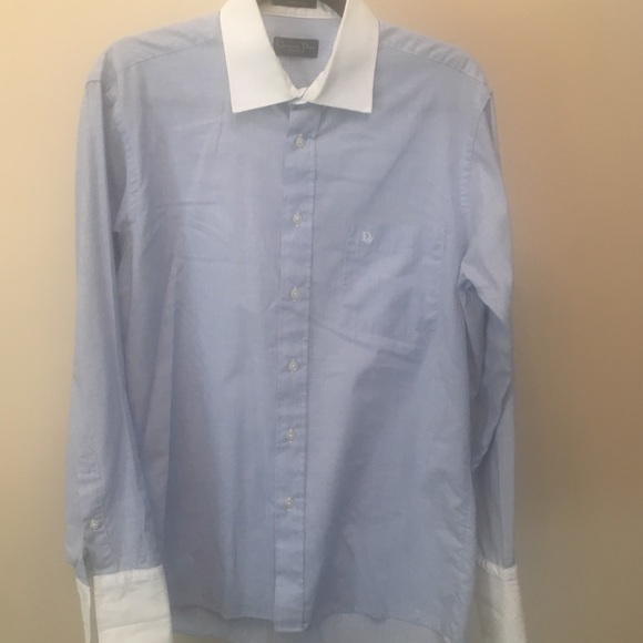 Dior Other - Dior Blue/White Custom Dress Shirt (15.5)